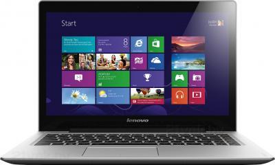 Ноутбук Lenovo IdeaPad U330p (59391670) - фронтальный вид