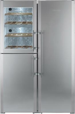 Холодильник с винным шкафом Liebherr SBSes 7155 - общий вид