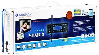Кронштейн для телевизора Kromax Star-3 (темно-серый) - упаковка