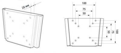 Кронштейн для телевизора Trone LPS 20-10 Black - схема
