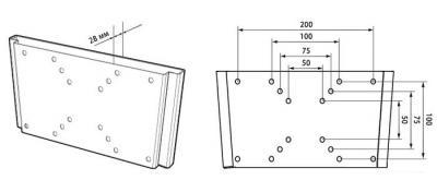 Кронштейн для телевизора Trone LPS 21-10 Black - схема