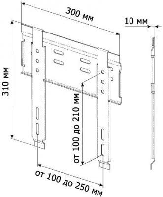 Кронштейн для телевизора Trone Slim 20-60 Black - схема