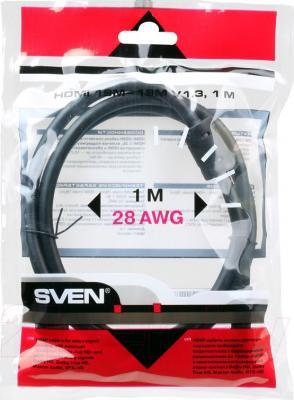 Кабель HDMI Sven 19M-19M V1.3 (1м) - общий вид