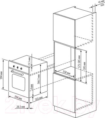 Электрический духовой шкаф Rihters 21-02