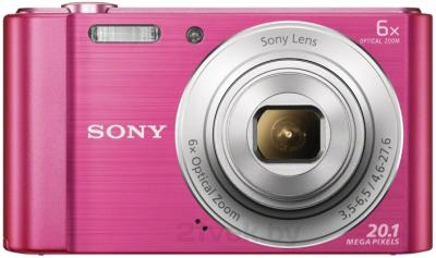 Компактный фотоаппарат Sony Cyber-shot DSC-W810 (розовый) - вид спереди