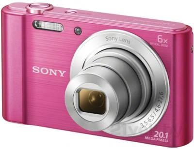 Компактный фотоаппарат Sony Cyber-shot DSC-W810 (розовый) - общий вид