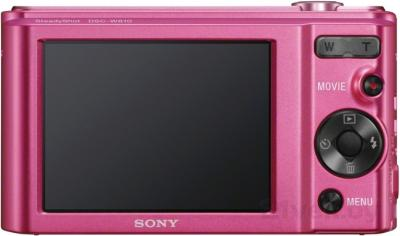 Компактный фотоаппарат Sony Cyber-shot DSC-W810 (розовый) - вид сзади