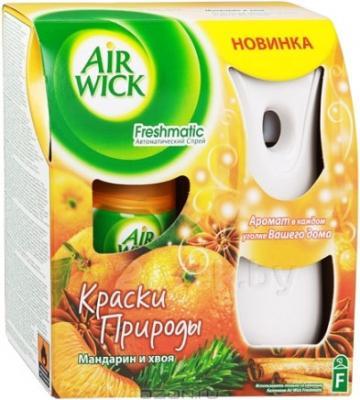 Автоматический освежитель воздуха Air Wick Fresh Matic Мандарин и Хвоя (250мл) - общий вид