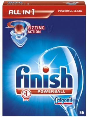 Таблетки для посудомоечных машин Finish All in One (56шт) - общий вид