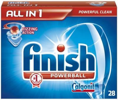 Таблетки для посудомоечных машин Finish All in One (28шт) - общий вид