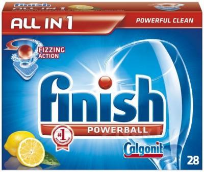 Таблетки для посудомоечных машин Finish All in One Лимон (28шт) - общий вид