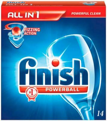 Таблетки для посудомоечных машин Finish All in One (14шт) - общий вид