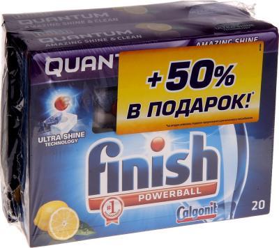 Таблетки для посудомоечных машин Finish Quantum Лимон (20+20шт) - общий вид