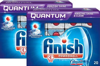 Таблетки для посудомоечных машин Finish Quantum (20+20шт) - общий вид