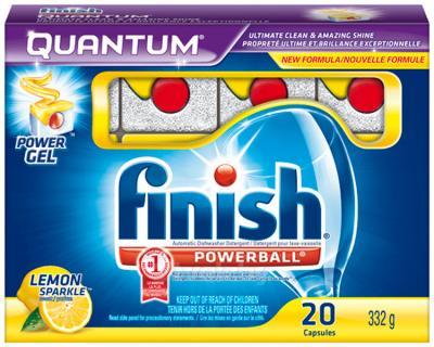 Таблетки для посудомоечных машин Finish Quantum Лимон (20шт) - общий вид