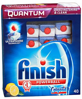 Таблетки для посудомоечных машин Finish Quantum Лимон (40шт) - общий вид