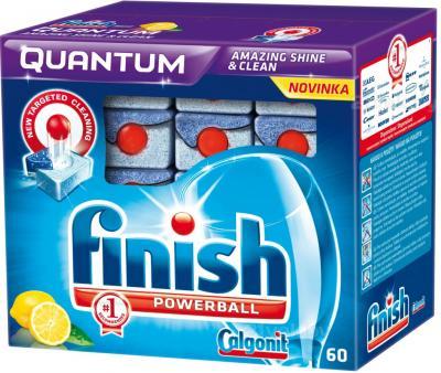 Таблетки для посудомоечных машин Finish Quantum Лимон (60шт) - общий вид