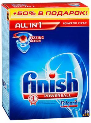 Таблетки для посудомоечных машин Finish All in One (56+28шт) - общий вид