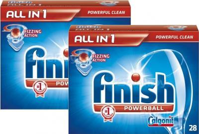 Таблетки для посудомоечных машин Finish All in One (28+28шт) - общий вид