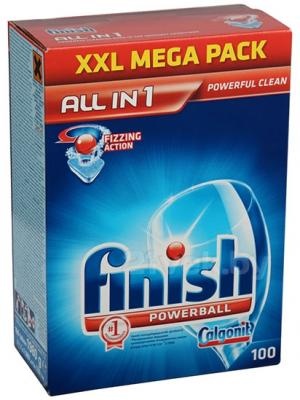 Таблетки для посудомоечных машин Finish All in One (100шт) - общий вид