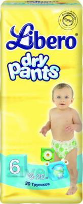 Подгузники-трусики Libero Dry Pants 6 Extra Large (30шт) - общий вид