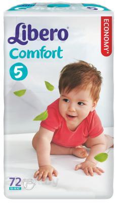 Подгузники Libero Comfort 5 (72шт) - общий вид