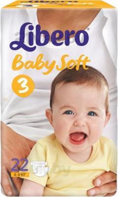 Подгузники Libero Baby Soft Midi 3 (22шт) - общий вид