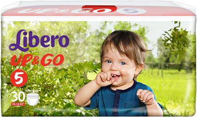 Подгузники-трусики Libero Up&Go Maxi Plus 5 (30шт) - общий вид