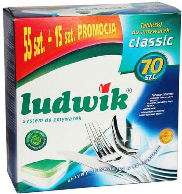 Таблетки для посудомоечных машин Ludwik Classic (70шт) - общий вид