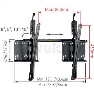 Кронштейн для телевизора Barkan 41 (Black) - габаритные размеры
