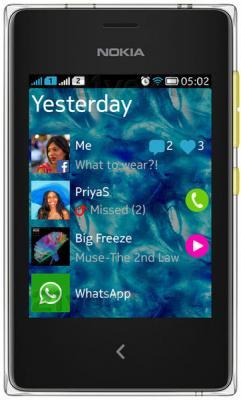 Мобильный телефон Nokia Asha 502 Dual (Yellow) - общий вид