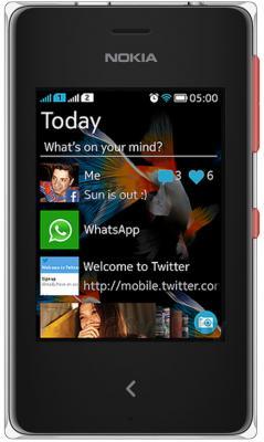 Мобильный телефон Nokia Asha 500 Dual (Red) - общий вид