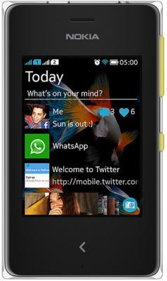 Мобильный телефон Nokia Asha 500 Dual (Yellow) - общий вид