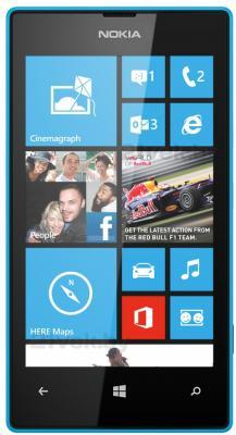 Смартфон Nokia Lumia 520 (Cyan) - общий вид