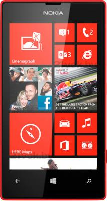 Смартфон Nokia Lumia 520 (Red) - общий вид