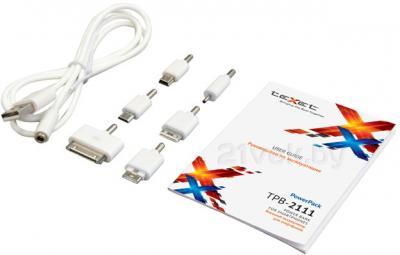 Портативное зарядное устройство TeXet PowerPack TPB-2111 (White) - комплектация
