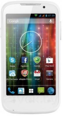 Смартфон Prestigio MultiPhone 3400 DUO (White) - общий вид