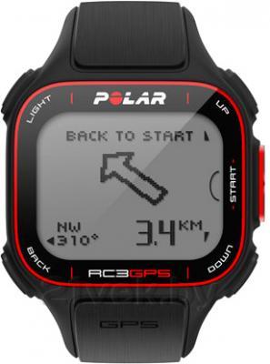 Пульсометр Polar RC3 GPS Bike (Black) - вид спереди