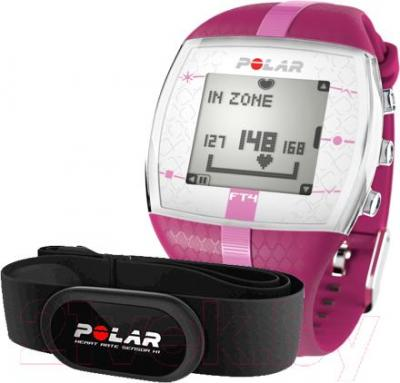 Пульсометр Polar FT4 (фиолетово-розовый)