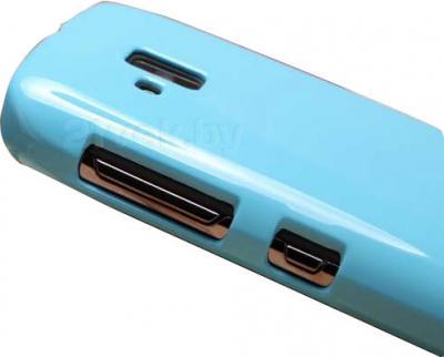 Задняя крышка для Nokia Lumia 610 Nillkin Shining (Blue) - доступ к разъемам телефона