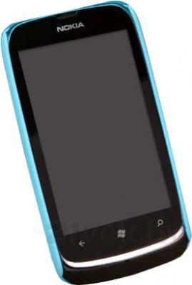 Задняя крышка для Nokia Lumia 610 Nillkin Shining (Blue) - вид спереди
