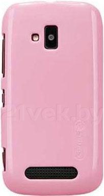 Задняя крышка для Nokia Lumia 610 Nillkin Shining (Pink) - общий вид