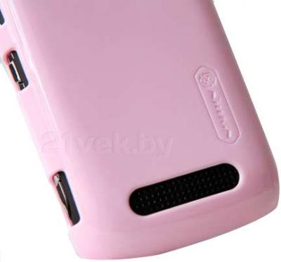 Задняя крышка для Nokia Lumia 610 Nillkin Shining (Pink) - свободный доступ к разъемам