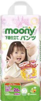 Подгузники-трусики Moony Girl XXL (26шт) - общий вид
