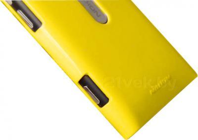 Задняя крышка для Nokia Lumia 800C Nillkin Shining (Yellow) - вполоборота