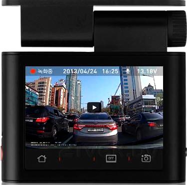 Автомобильный видеорегистратор Cowon AE1 (8Gb, Black) - сенсорный дисплей