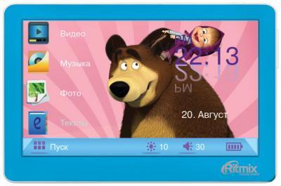 MP3-плеер Ritmix RP-450M HD (4Gb, синий) - общий вид