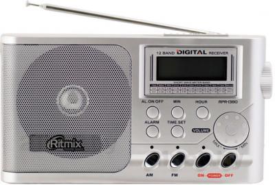 Радиоприемник Ritmix RPR-1380 (серебристый) - общий вид