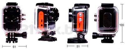 Экшн-камера ISAW A1 - размеры