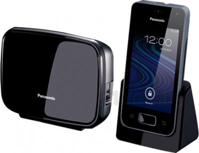 Беспроводной телефон Panasonic KX-PRX150 (черный) - с автоответчиком